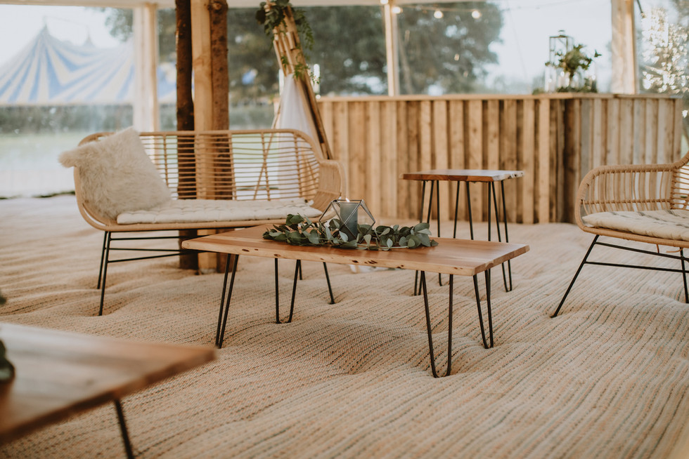 Sami tipi sail cloth furniture
