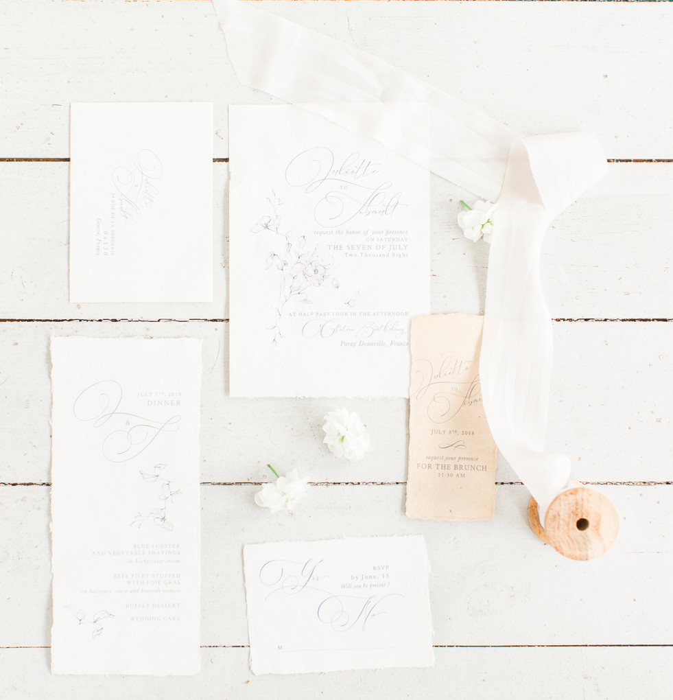 luxury elopement stationery kate cullen ribbon