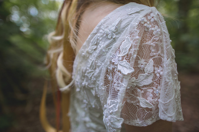woodland wedding lace dress