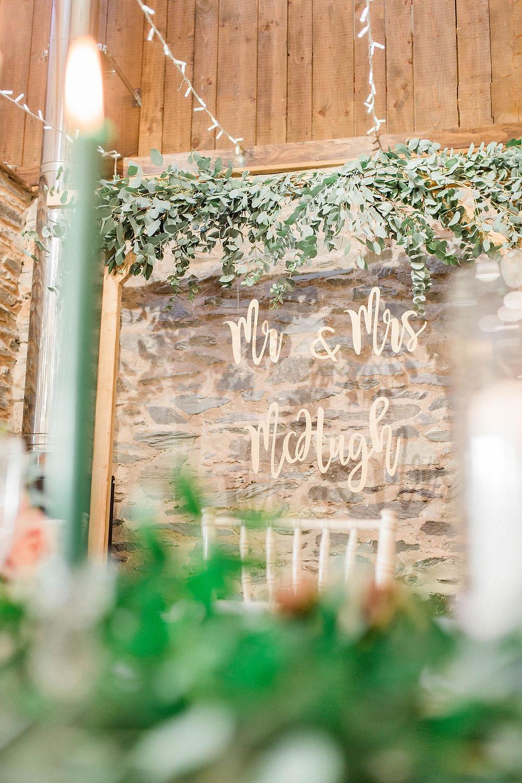 laser cut sign for wedding