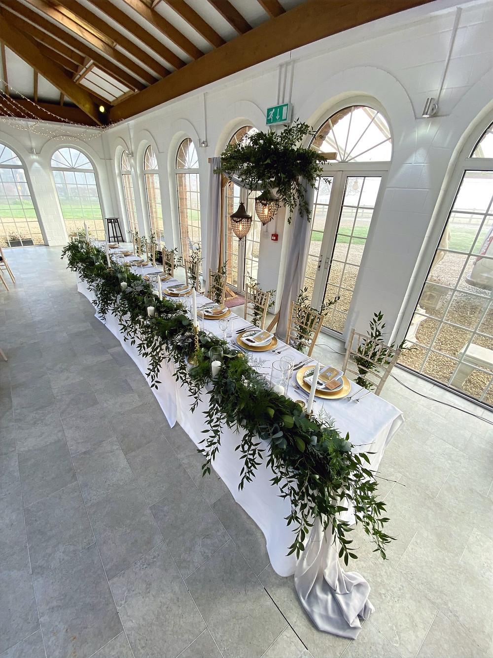 irnham hall wedding venue top table