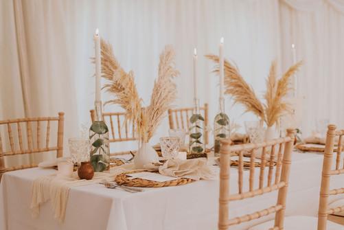 papmas grass wedding flowers
