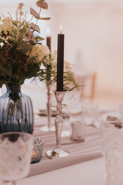 silver candlestick hire
