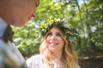 woodland wedding flower crown