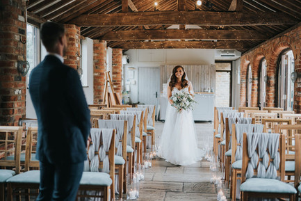 grey wedding ceremony ideas with chair decor