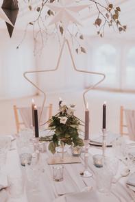 metal star wedding decoration