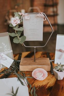 vellum wedding day menus