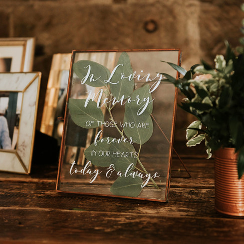 wedding signage leicester