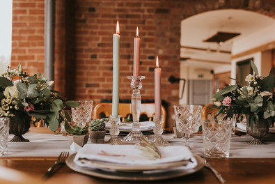 glass candlestick hire leicestershire