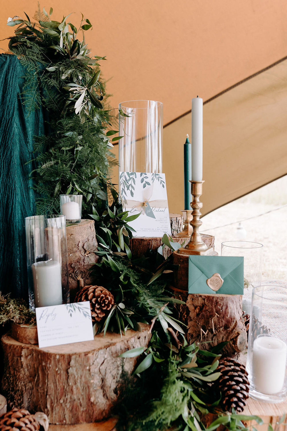 forest themed wedding decoration ideas