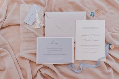 pale blue wedding invitations