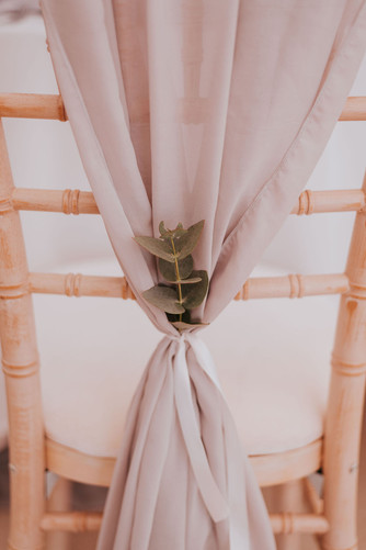 chair drape greenery ecalyptus