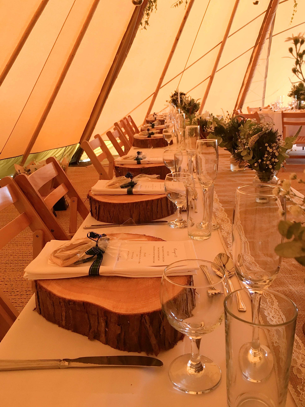 woodland tipi wedding leicester