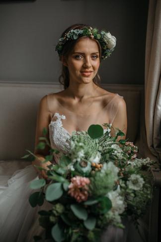 rustic textured bridal bouquet boho bride