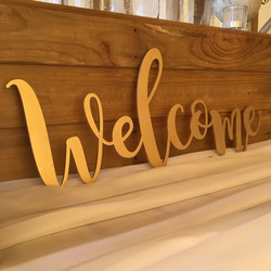 LARGE WELCOME LASER CUT SIGN
