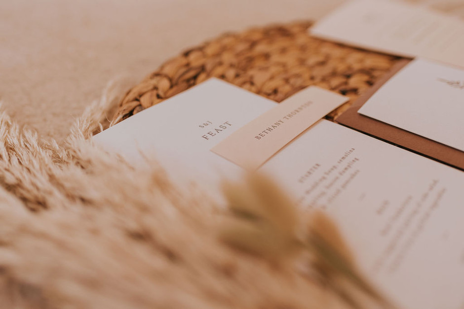 simple wedding menus