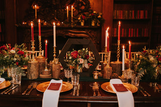 red and gold wedding day ideas
