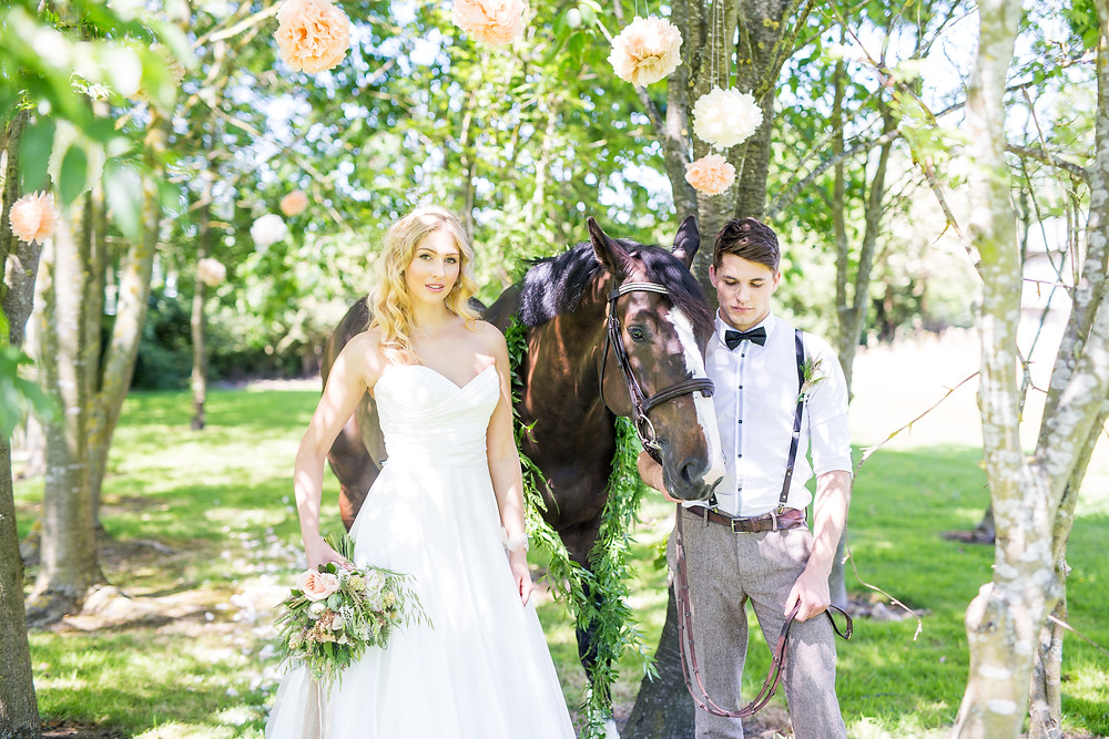 equestrian horse wedding at Bawdon lodge farm