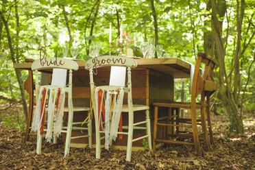 woodland wedding chairs