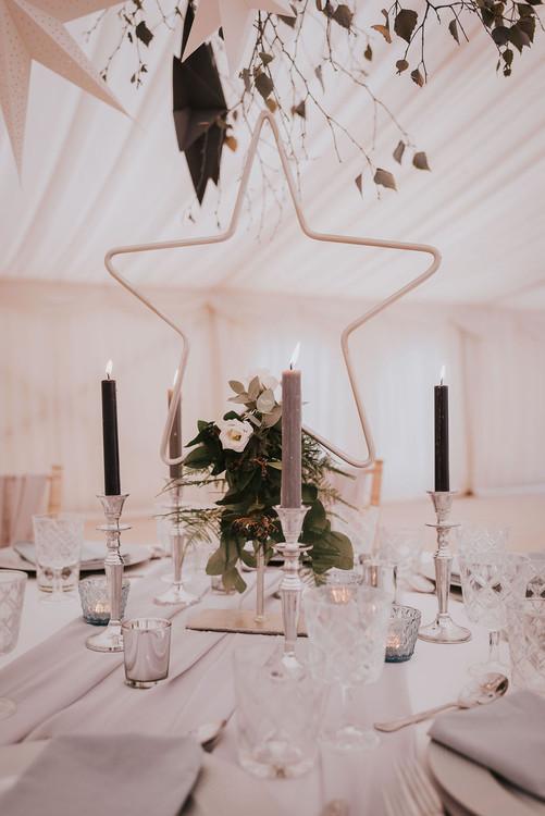 celestial winter wedding