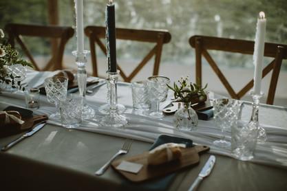 grey wedding tables