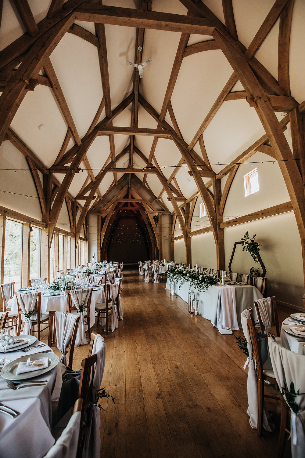 the mill barns wedding breakfast room
