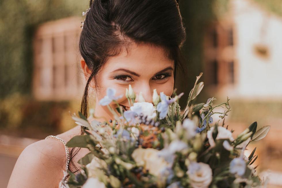 blue bride flowers