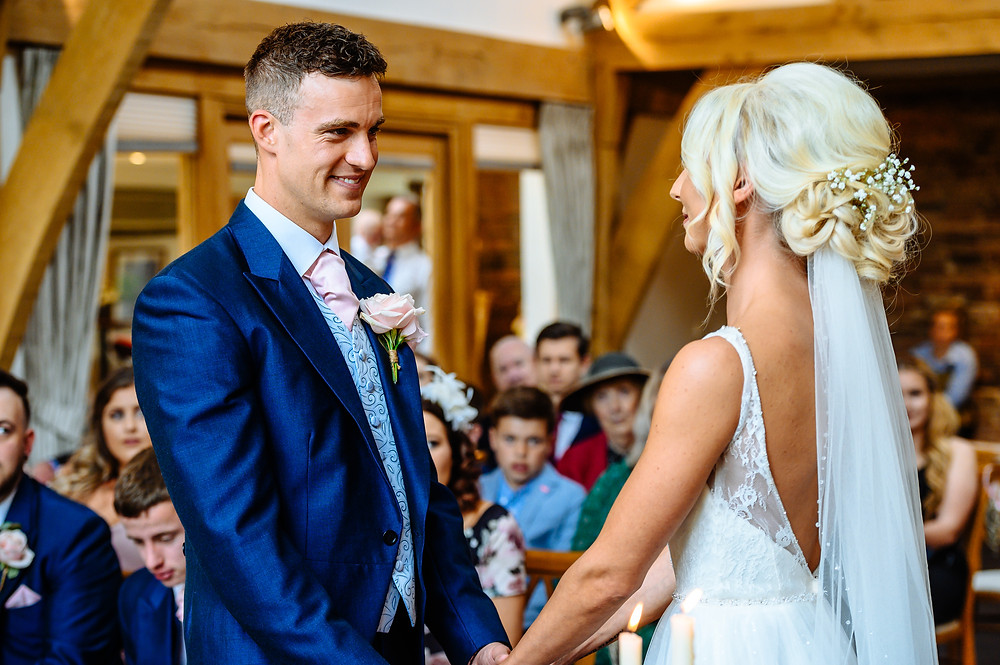 charley and paul wedding mythe barn