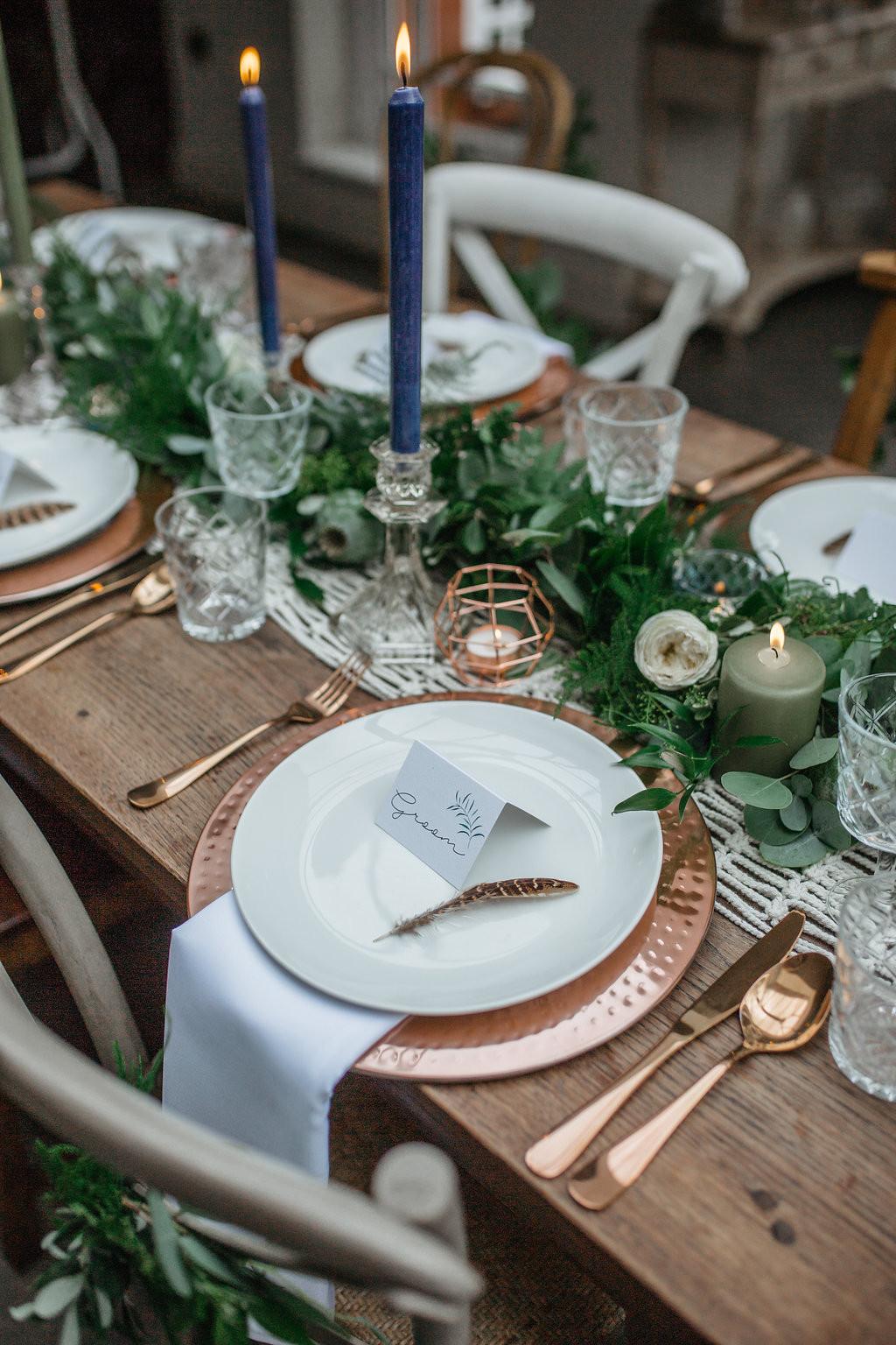wedding table décor hire leicester