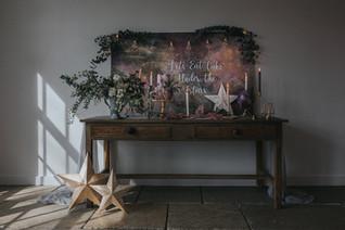 celestial wedding cake table