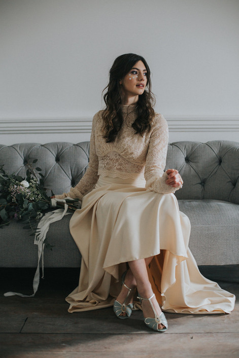 ivory cream wedding dress