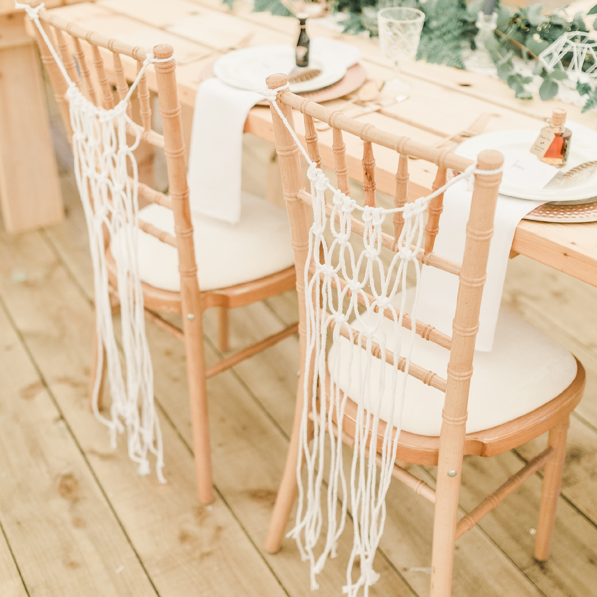 MACRAME CHAIR BACKS