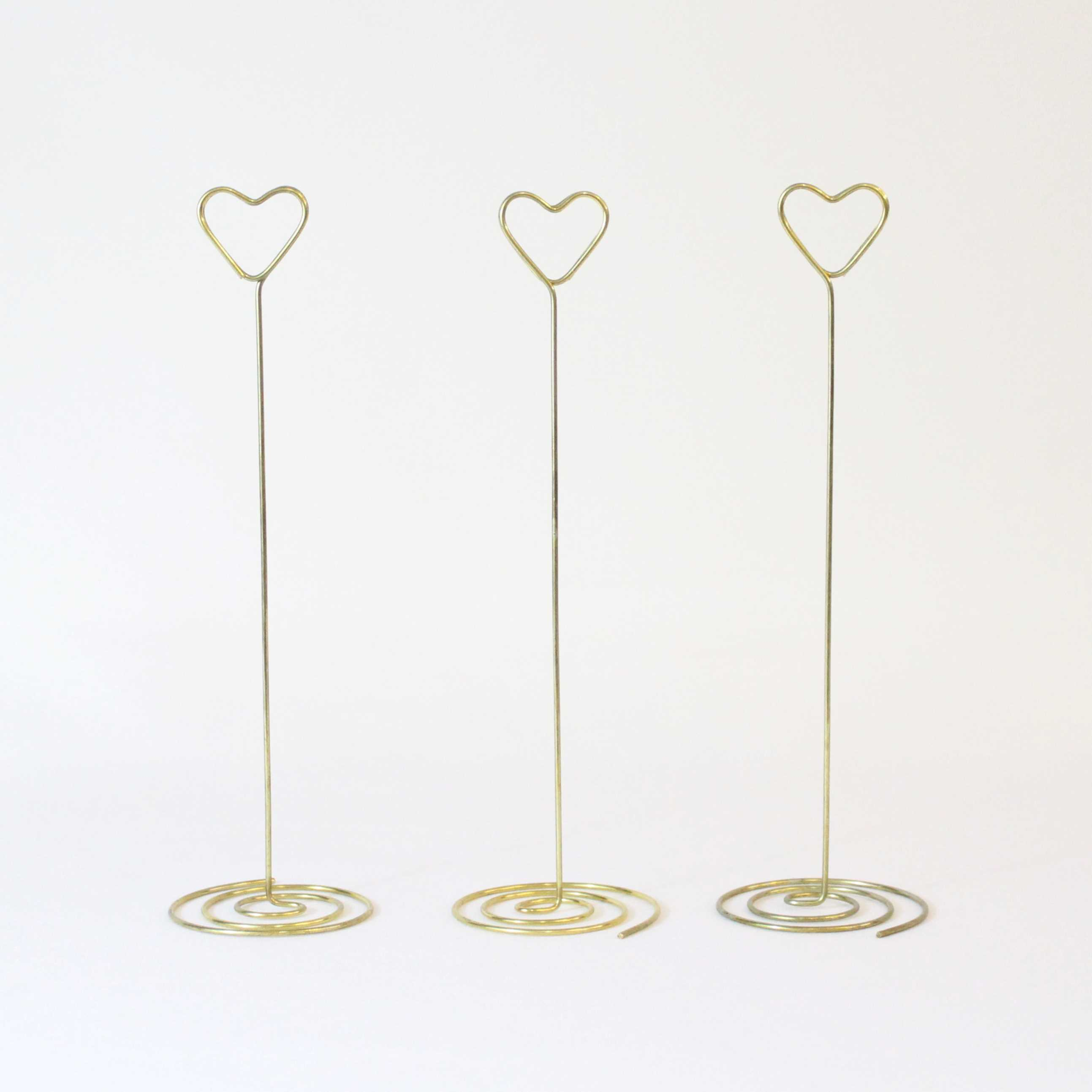 HEART TABLE NUMBER STANDS