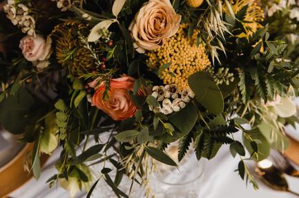 yellow and orange wedding flowers