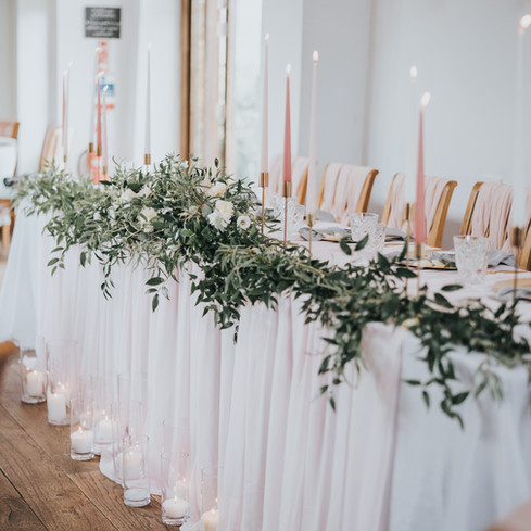 blush pink wedding decoration