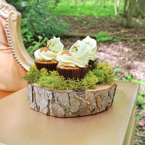 woodland wedding cup cakes