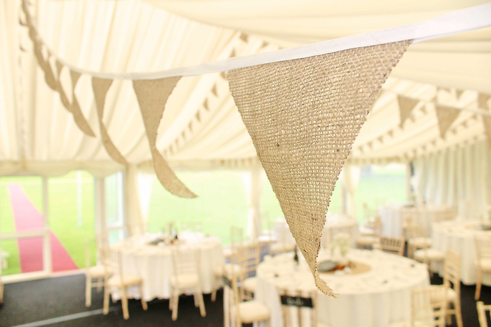 hessian bunting hire East Midlands