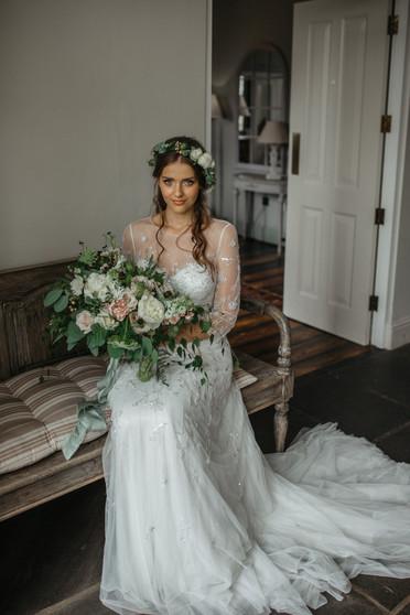 rustic textured bridal bouquet