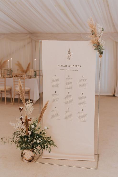 simple wedding signage jenna claire stationery