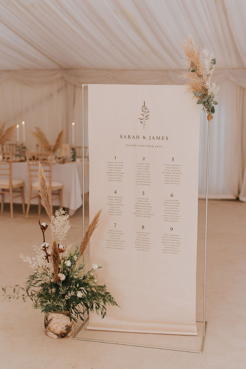 simple wedding signage jenna claire stationery