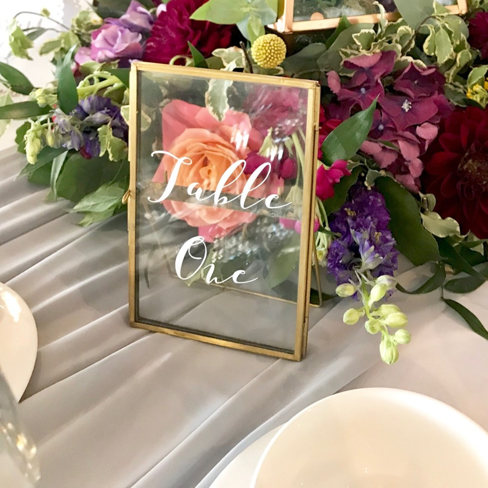 BRASS TABLE NUMBER FRAME