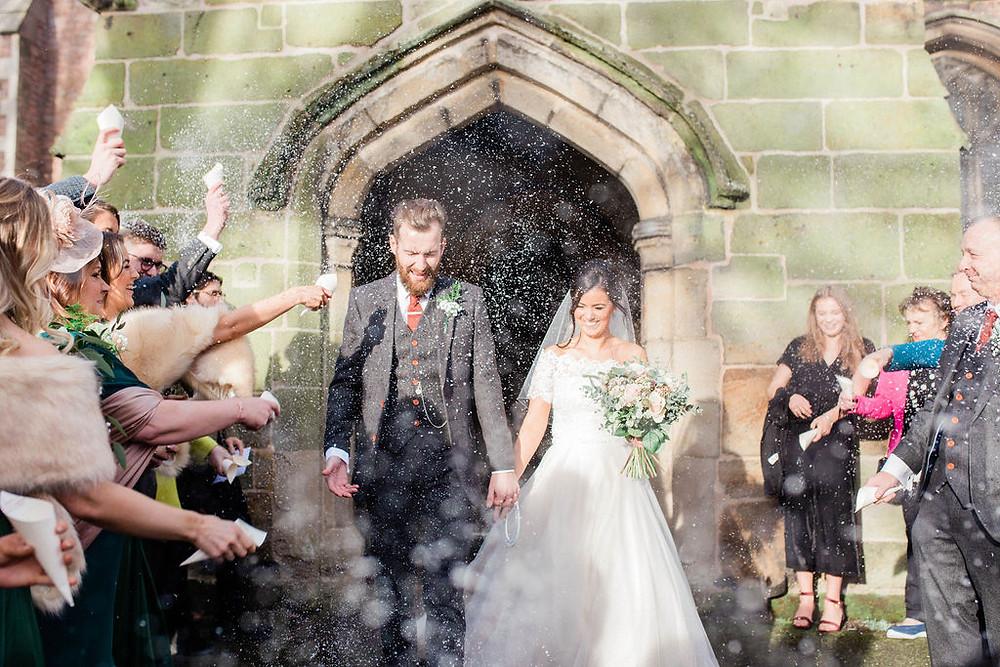 confetti shot at barrow church