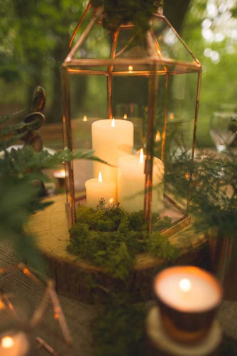 woodland wedding copper luxe