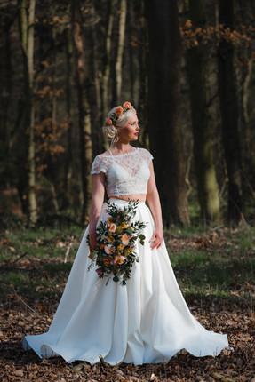 two-piece wedding dress