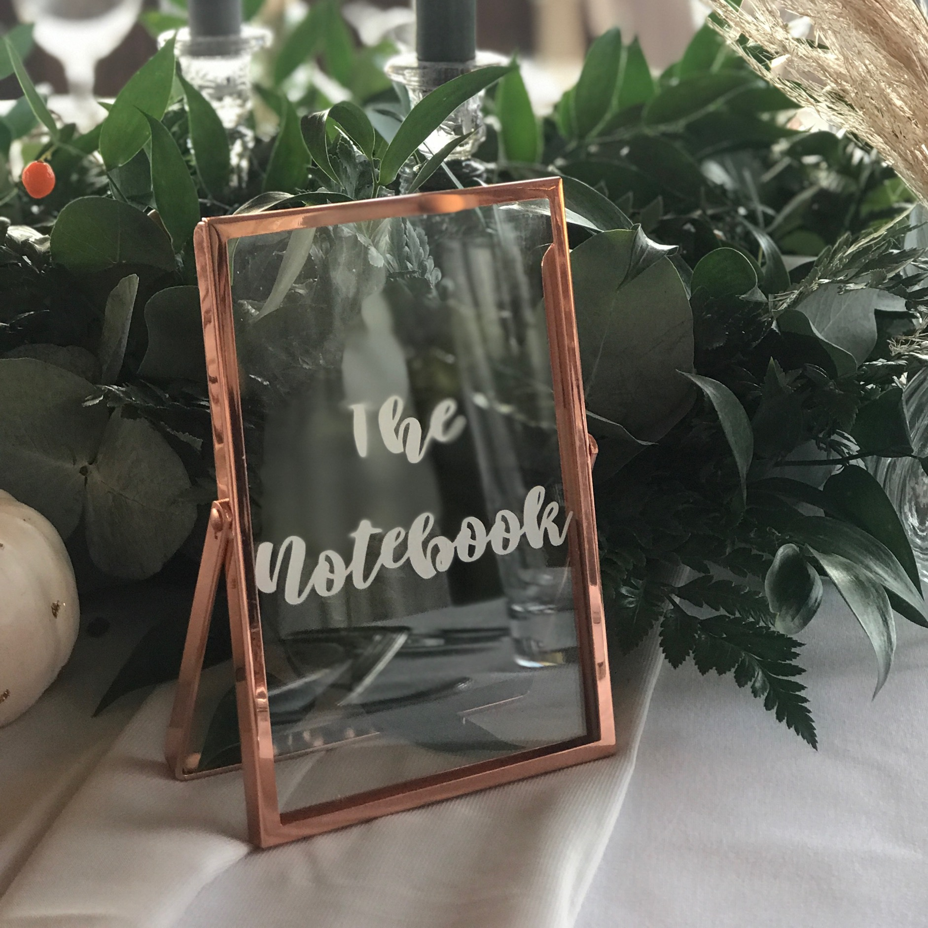 COPPER FRAME TABLE NUMBER