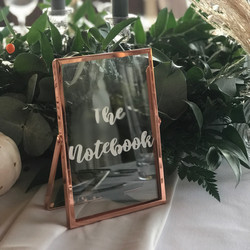 COPPER FRAME TABLE NUMBER OR NAME