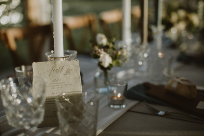 delicate wedding table stationery