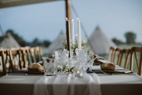 tall dinner candles for wedding tables