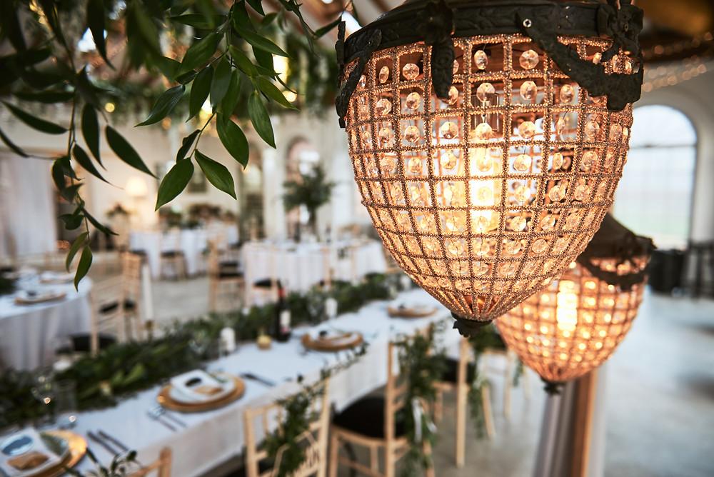 vintage light backdrop for wedding
