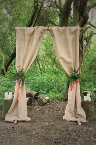 woodland wedding ceremony ideas archway hire leicester